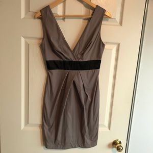 Grey pleated cocktail dress